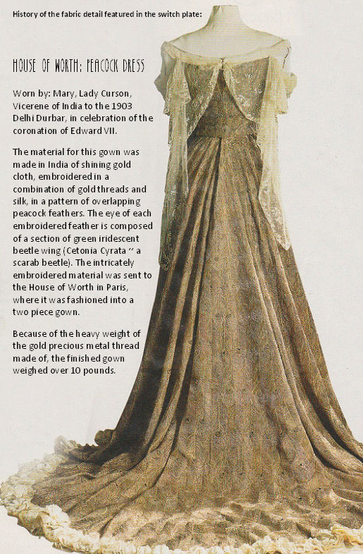 History of the House of Worth Peacock Dress