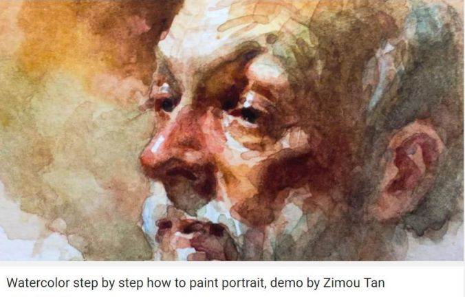 How to paint portrait Zimou Tan