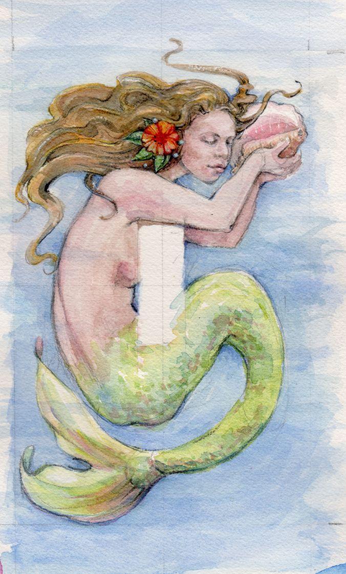 Mermaid with seashell