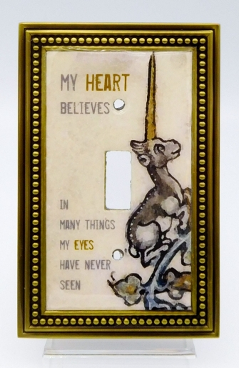 'My Heart Believes' Unicorn Switchplate